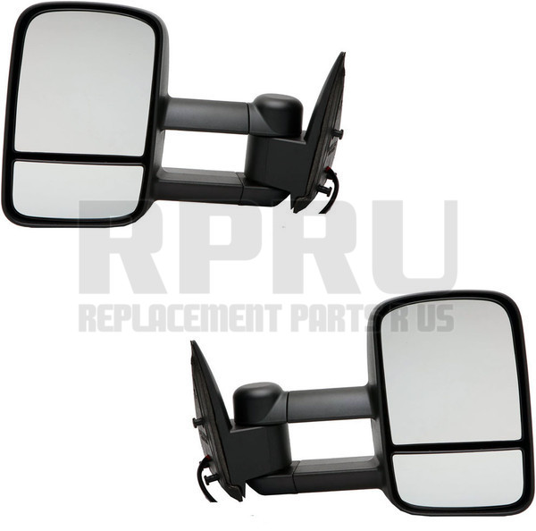 New Heated Power Mirror Set For 03-06 Avalanche Silverado GM1320293 GM1321293
