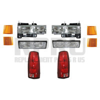 Headlights Park Lamps Reflectors Tail Lights For GMC Truck 94-98 Suburban 95-99