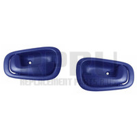 Corolla Prism Interior Driver And Passenger Side Door Handle Pair Blue Without Power Lock Slot In Handle 1998-2002