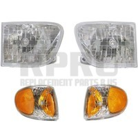 Mercury Mountaineer Headlight Set/4 With Park Signal Lamps