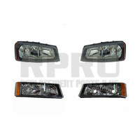 Headlights Signal Lamps Fits The Chevy Silverado 2005 2006 Set 4 2007 Classic