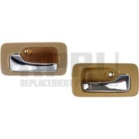 Honda Car Sedan Left/Right Inside Door Handles Tan Base Chrome Handle Manual Pair