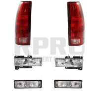 Headlights Park Lights Tail Lights Fits Chevy GMC Truck 1994-1998 Tahoe 95-99