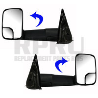 Kool Vue Towing Mirrors Manual With Brackets Pair Left/Right 7X10
