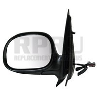 Ford F150 Power Mirror W/Glass Left Driver Side Black Crew Cab