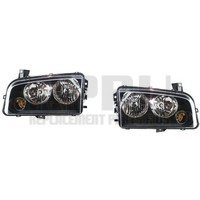 Headlights For Dodge Charger 2006-2010 Halogen Left And Right Pair Amber Signal
