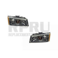 New Head Lights Pair For Chevy Silverado Truck 2003 2004 W/Brackets