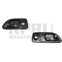 Inside Door Handles Gray/Chrome With Power Locks 4 Door Left/Right Front Pair