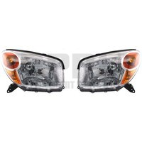 2004 2005 Toyota Rav4 Headlights New Pair Left/Right Chrome Bezel