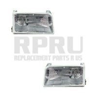 New Headlights Pair Fits Ford Truck Bronco 1992-1996 Left Right F150 F350 F350
