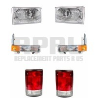 Headlights Signal Lamps And Tail Lights For Ford Excursion 2004 Set Of 6