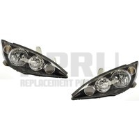 New Headlights Pair With Black Trim For The Toyota Camry SE 2005 2006 USA Built