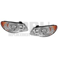 Headlights For Hyundai Elantra 2007 2008 2009 2010 4 Door Sedan Pair