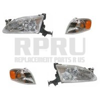 New Headlights And Signal Lamps Fits The Toyota Corolla 1998 1999 2000 Set/4