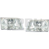 2006-2011 Mercury Grand Marquis Headlights Pair Left/Right W/Adjusters Nice
