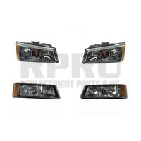 Headlights And Park Signal Lights Fits The Chevy Silverado Truck 2003 2004