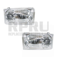 1999-2004 Ford Super Duty Truck Headlights Pair 00-04 Excursion Left/Right
