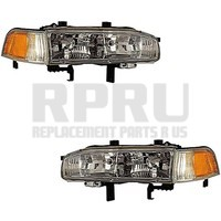 Headlights Signal Lights For Honda Accord 1992 1993 Pair Left Right Nice