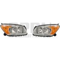 Headlights For Toyota Rav4 2009 2010 2011 2012 Pair Chrome Bezel