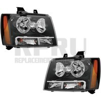 Pair Headlights For Chevy Tahoe Suburban 2007-2014 Avalanche 07-13