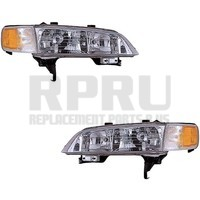 1994-1997 Honda Accord Headlights With Corner Lamps Pair With Mounting Brackets