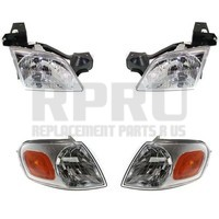 Headlights Signal Lights For Venture Silhouette 1997-2005 Trans Sport 97-98