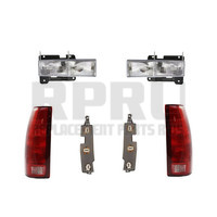 88-98 Chevy GMC Truck Headlights And Tail Lights W/Boards 92-99 Suburban Tahoe