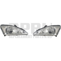 2000-2004 Ford Focus Headlights Pair Left And Right Chrome Inner Bezel Nice Except SVT