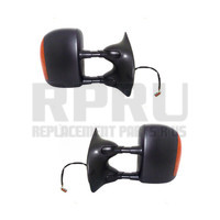 Mirrors For Super Duty Truck Excursion 2003-2007 Pair Power W/Signal Textured