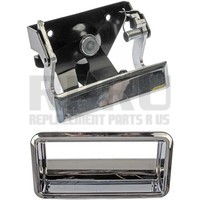 1988-1998 Chevy Gmc Truck Chrome Metal Tailgate Latch Handle With Bezel