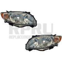 Toyota Corolla Headlights Pair With Clear Lens Left And Right