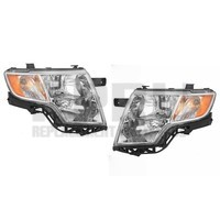 Ford Edge Headlamps Left/Right Pair W/Chrome Bezel