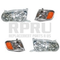 2001 2002 Toyota Corolla Headlights And Park Signal Lamps Set Of 4 Nice