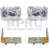 1999-2004 Ford Super Duty Truck Excursion Headlights And Signal Lamps Set/4 Nice