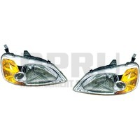 Headlights For Honda Civic 2001 2002 2003 4 Dr Sedan Pair Left Right Nice