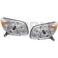 2006 2007 2008 2009 Toyota 4Runner Headlights New Pair Left/Right Chrome Bezel