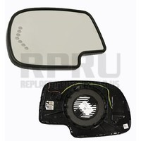 GM Mirror Glass W/Auto Dim Turn Signal Flash Heat Left Driver W/Mounting Base