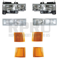 Chevy Truck And SUV Headlamps Turn Signals And Side Reflectors Set/8