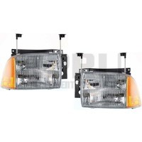 1995 1996 1997 Chevy Blazer Headlights Pair Left/Right Nice With Adjusters