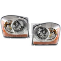 2006 Only Dodge Durango Headlights New Pair Left/Right Chrome Bezel Nice
