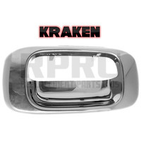 Kraken Brand Chevy Silverado GMC Sierra Truck Tailgate Latch Handle Bezel Chrome Without Lock Hole