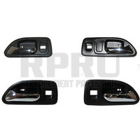 Inside Door Handles Gray/Chrome With Power Locks 4 Door L/R Front And Rear Set Of 4