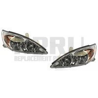 Headlights For Toyota Camry 2002 2003 2004 LE XLE Pair Left Right Chrome
