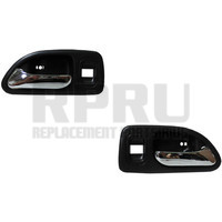 Inside Door Handle Gray/Chrome With Power Locks 4 Door Left/Right Pair Rear